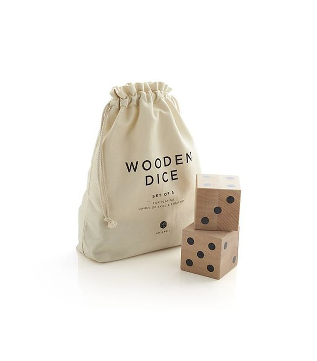 Crate and Barrel Wooden Yard Dice Game Set