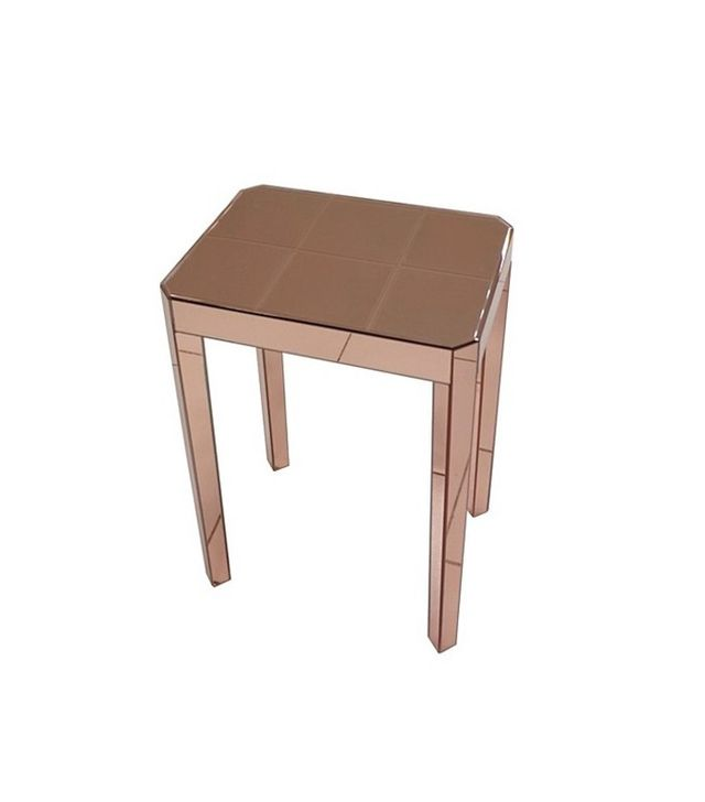 Target Mirrored Accent Table Copper
