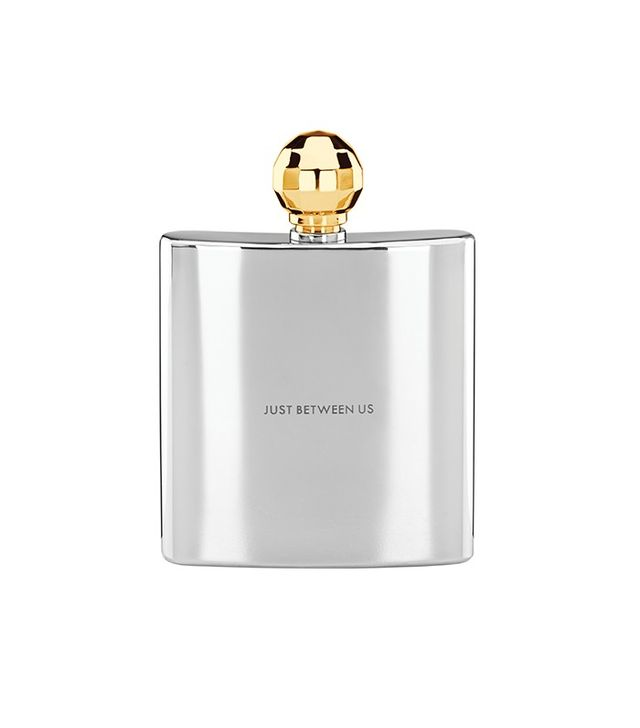 Kate Spade New York Two of a Kind Gold Faceted Flask
