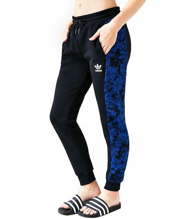 Adidas Blue Floral Jogger Pant