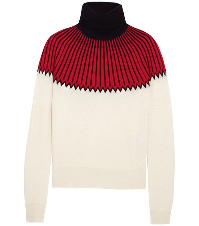 Chloé Snow Capsule Intarsia Cashmere Turtleneck Sweater