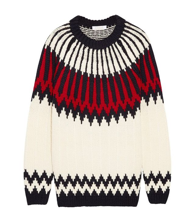 Chloé Snow Capsule Intarsia Wool Sweater