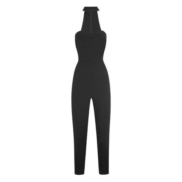 Topshop by Kendall + Kylie Cut-Out High Neck Jumpsuit