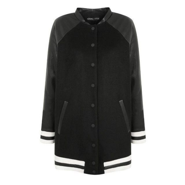 Topshop by Kendall + Kylie Longline Bomber Jacket