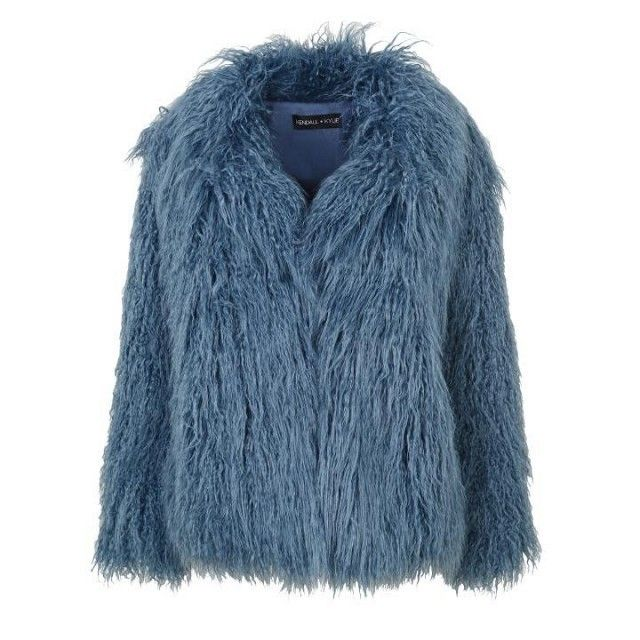 Topshop by Kendall + Kylie Mongolian Fur Coat