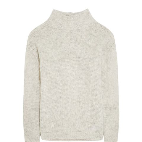 Le Open Mix Stitch Knitted Sweater