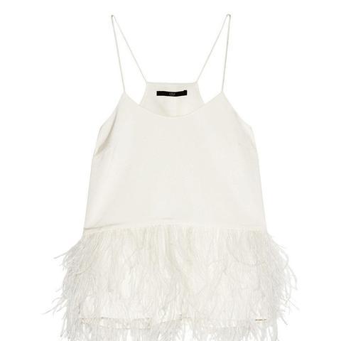 Feather-Embellished Camisole