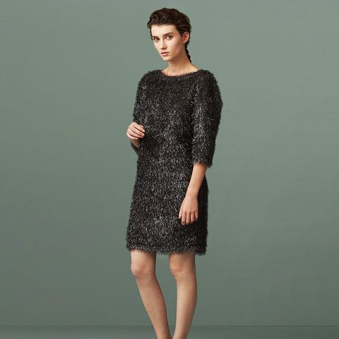 Maundy Textured Tinsel Dress