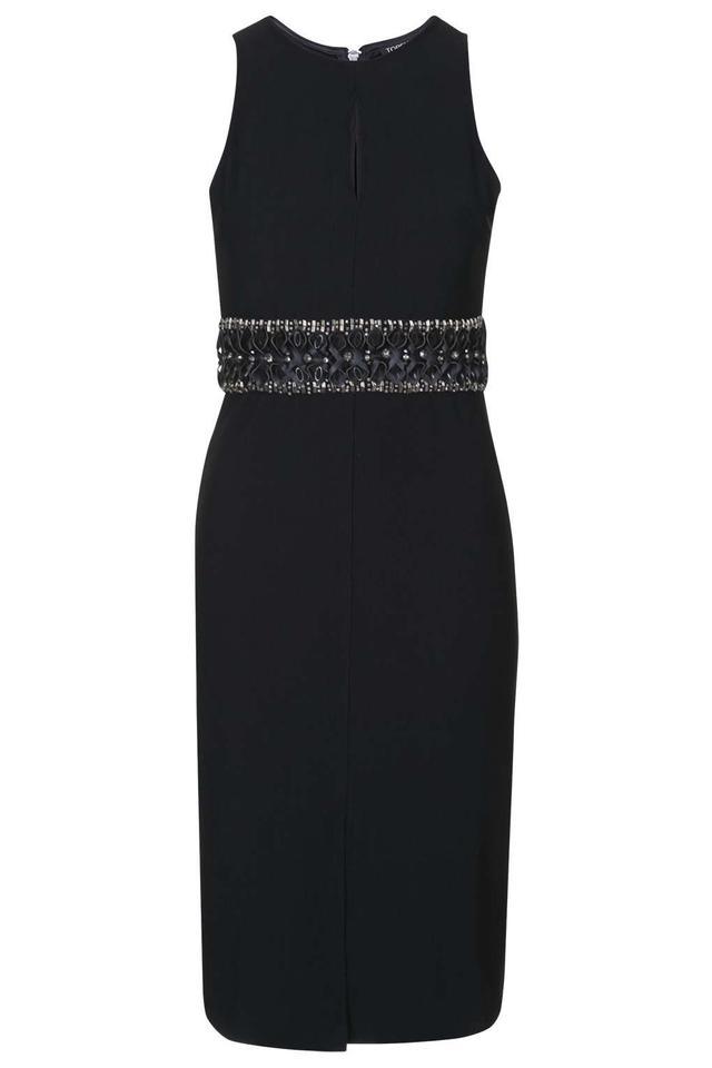 Topshop Embellished Waist Bodycon Dress