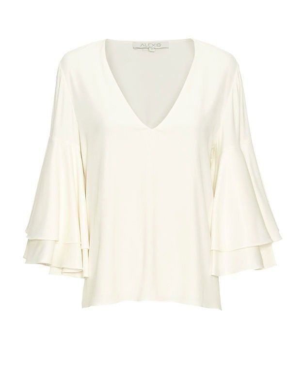 Alexis Ruffled Bell Sleeve Blouse