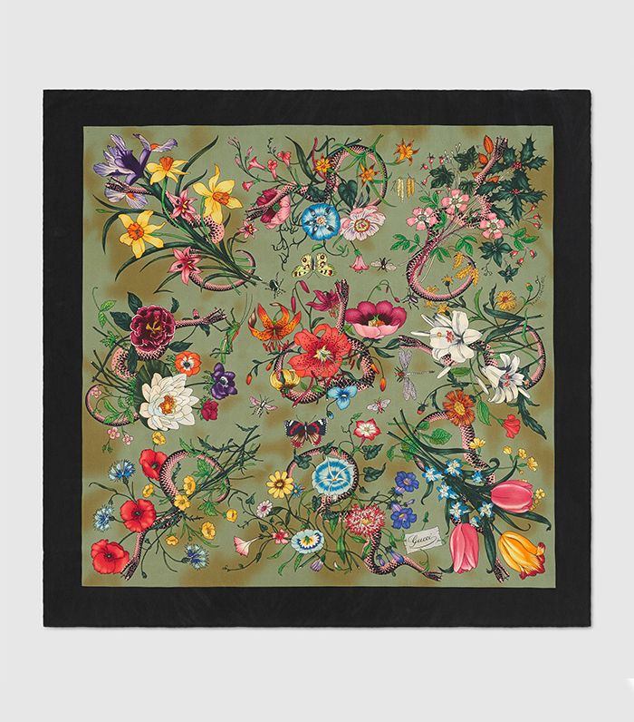 New Flora Silk Scarf