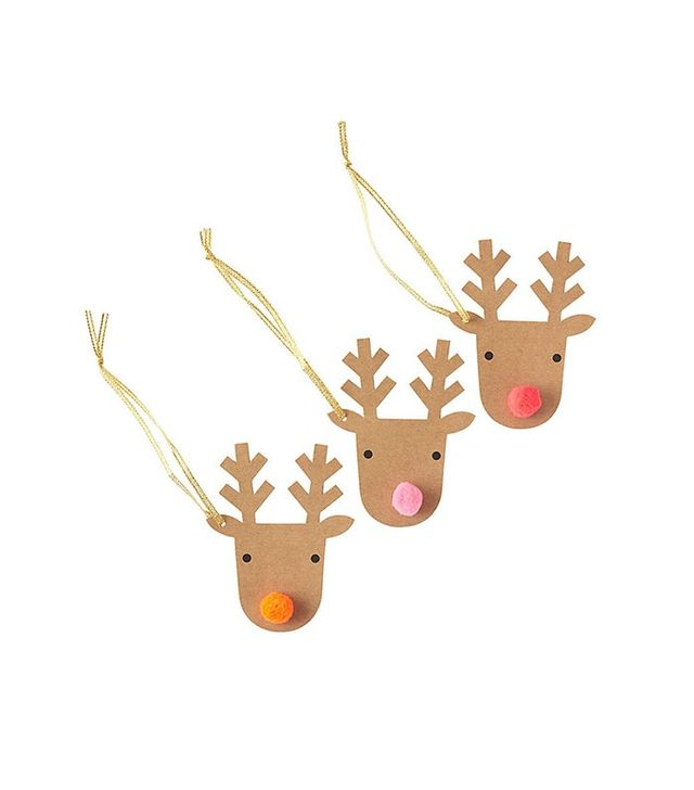 Paper Source Set of 3 Reindeer Gift Tags