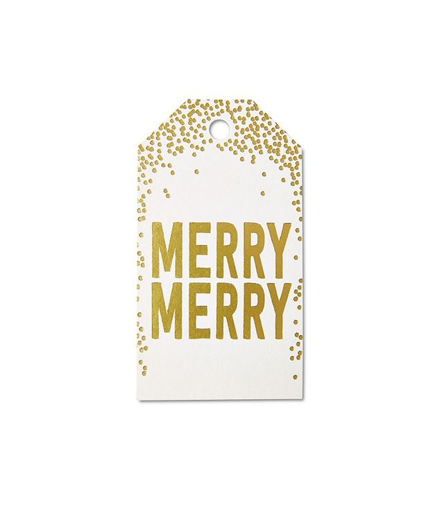 Smock Paper Set of 12 Merry Gift Tags