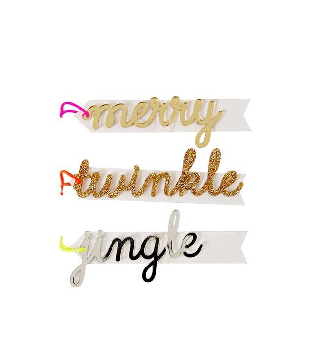 Meri Meri Set of 6 Merry/Twinkle/Jingle Gift Tags