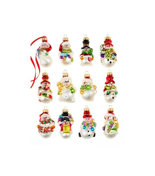 Macy's Holiday Lane Box of 12 Snowman Ornaments