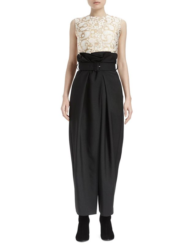 Stella McCartney Paperbag-Waist Wide-Leg Pants