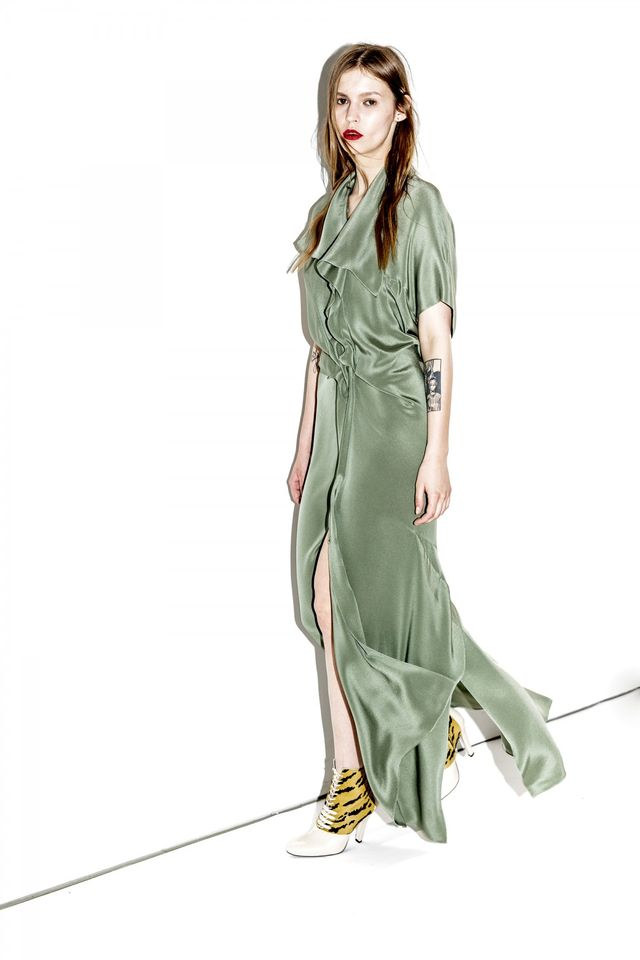 3.1 Phillip Lim Embroidered Gown With Broken Line Back Panel