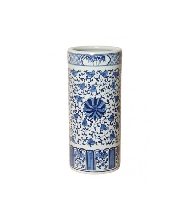 The Well Appointed House Blue and WhitePorcelain Umbrella Stand