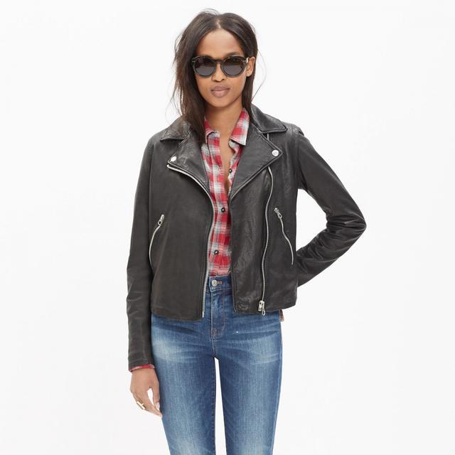 Madwell Washed Leather Motorcycle Jacket