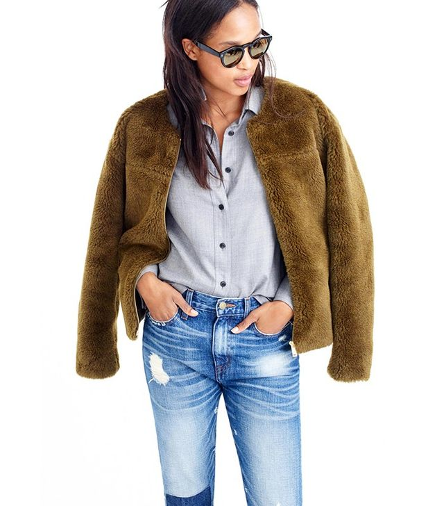 J.Crew Plush Fleece Teddy Jacket