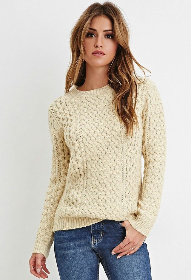 Forever 21 Chunky Fisherman Sweater