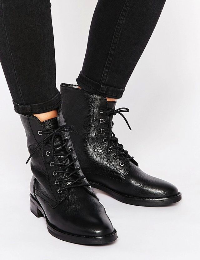 ASOS Aerodrome Leather Lace Up Ankle Boots