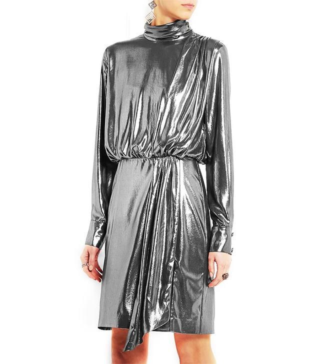 Topshop Unique Livonia Lamé Mini Dress