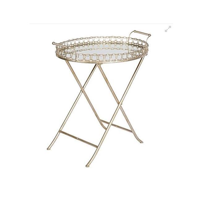 Casa Uno Laconic Mirrored Tray Table
