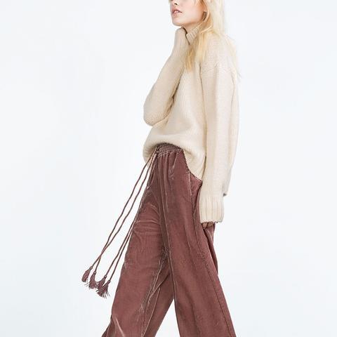 Flowing Velvet Trousers