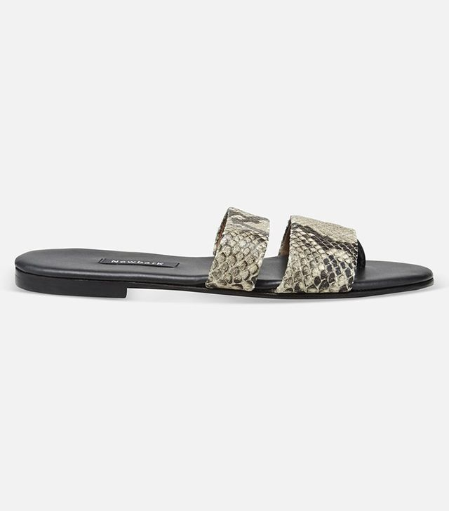 Newbark Embossed Snake Print Sandals