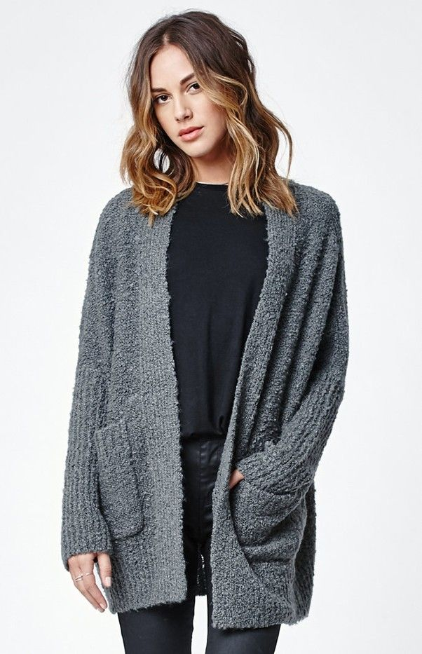 Kendall & Kylie for PacSun Slouchy Open Front Cardigan
