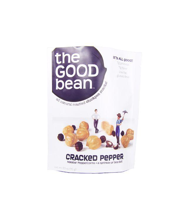 The Good Bean All Natural Roasted Chickpea Snacks, Cracked Pepper