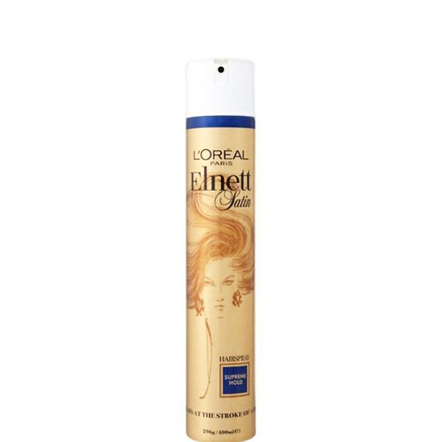 How to tame baby hair: L'Oreal Paris Elnett Firm Hold Hairspray