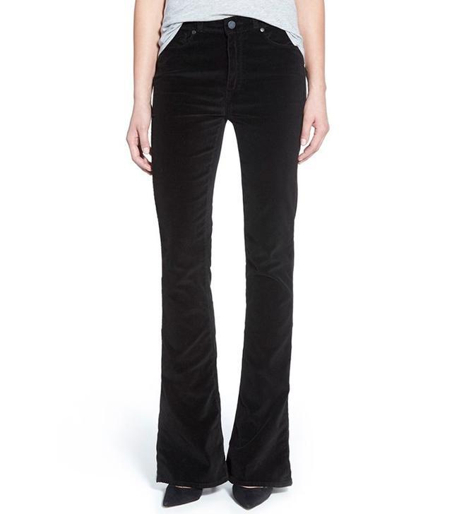"Paige Denim ""Lou Lou"" Velvet Flare Jeans"