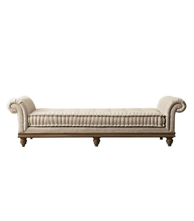 Restoration Hardware Victorian Roll Arm Upholstered Daybed