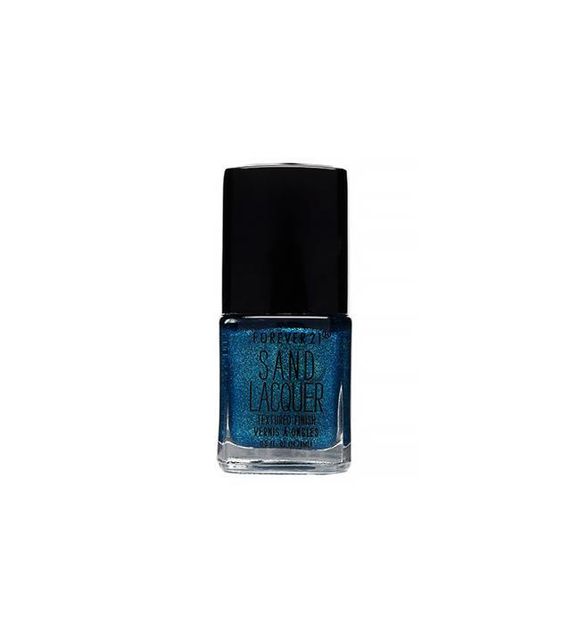 Love & Beauty Blue Jewel Sand Lacquer Nail Polish