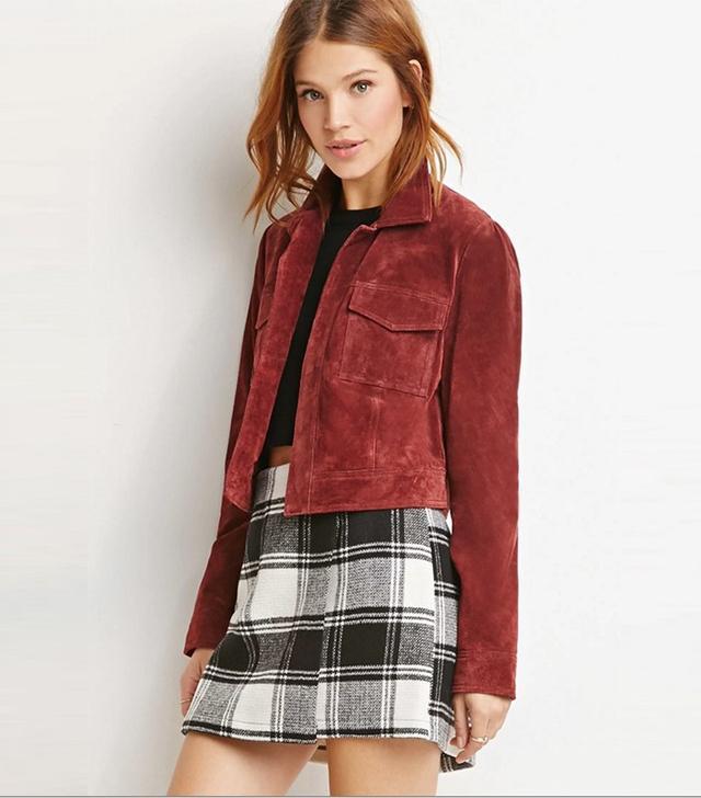 Forever 21 Contemporary Genuine Suede Jacket