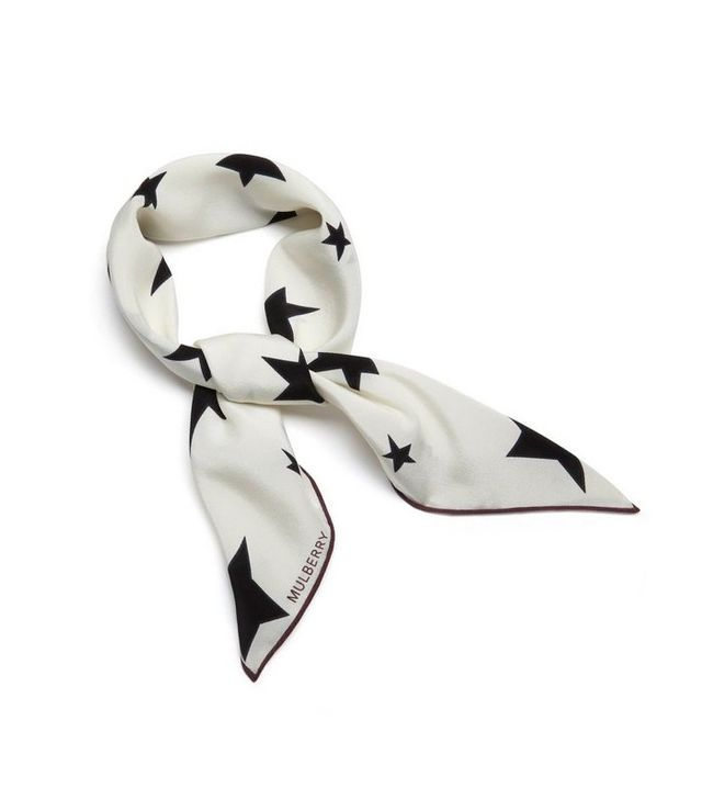 Mulberry Abstract Star Neckerchief