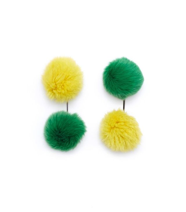 Tuleste Double Pom Pom T Earrings
