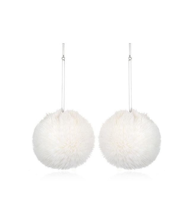 "Tuleste 3"" Pom Pom Earrings"