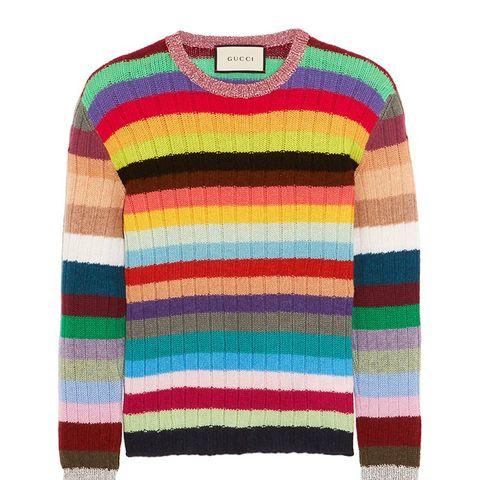 Striped Cashmere and Wool-Blend Sweater