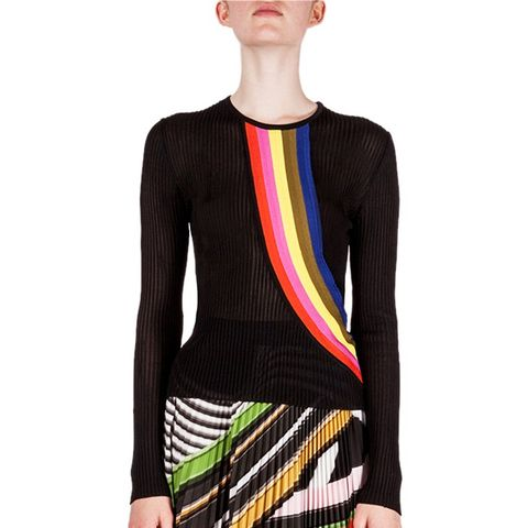 Rainbow-Stripe Jumper