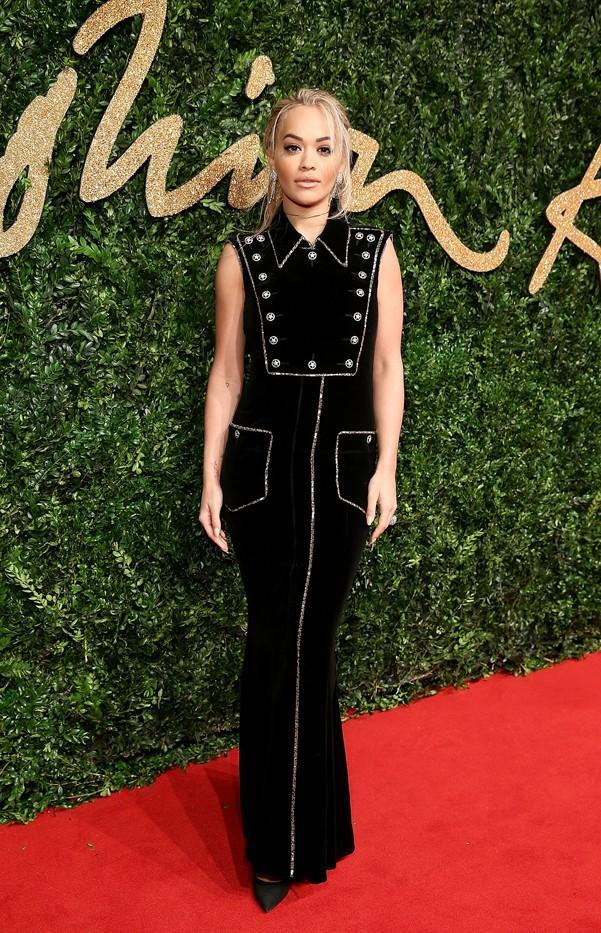 WHO: Rita Ora WEAR: Chanel dress.