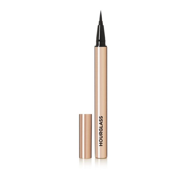 How to apply eyeliner: Hourglass Voyeur Waterproof Liquid Liner Ultra Black