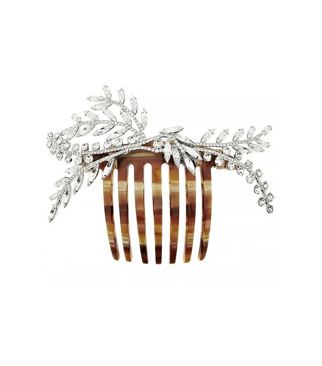 Jennifer Behr Grand Laurel Swarovski Crystal-Embellished Hair Comb