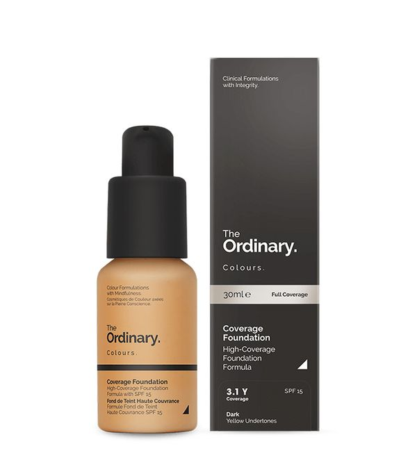 Best full-coverage foundation: The Ordinary Coverage Foundation