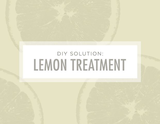 7 Brilliant Ways to Unclog Your Pores: DIY Solution: Lemon Treatment