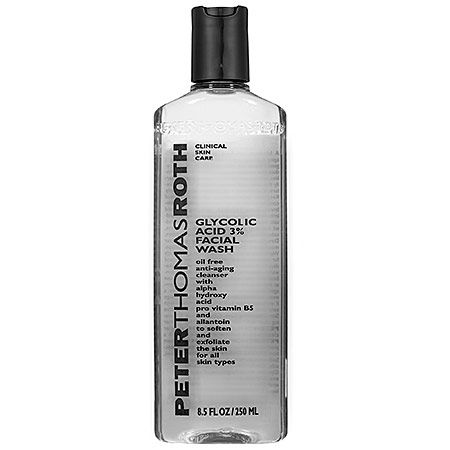 7 Brilliant Ways to Unclog Your Pores: Peter Thomas Roth Glycolic Acid 3 Percent Facial Wash