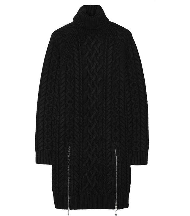 Alexander Wang Cable-Knit Wool Sweater Dress