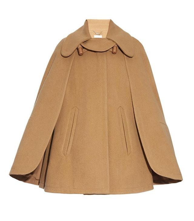 Chloé Point-Collar Wool-Blend Cape